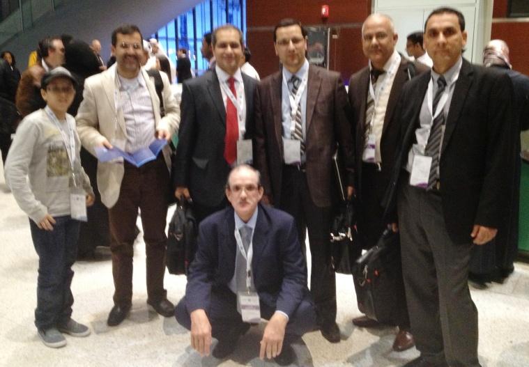 ابني حاتم مع بعض أعضاء الوفد المغربي