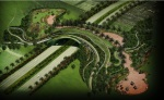 جسر طبيعي للمشاة والدراجات الهوائية والحيوانية يربط الحديقة الجديدة بحديقة اسباير