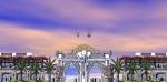 مدخل حديقة حيوان الدوحة في حلتها الجديدة